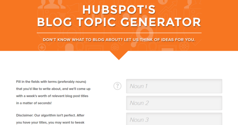 Hubspot Blog Topic Generator Screenshot