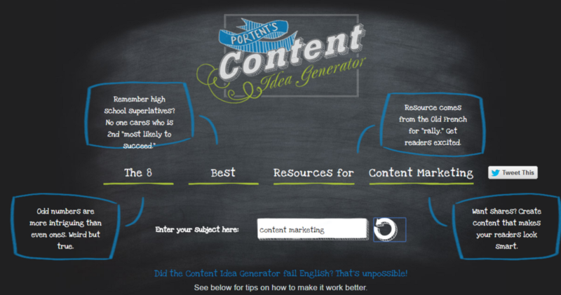 3 free blogging tools to combat writer s block bluefin for Portent idea