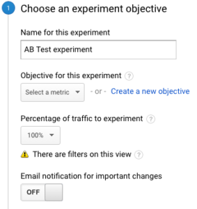 Setting Up Google Experiements