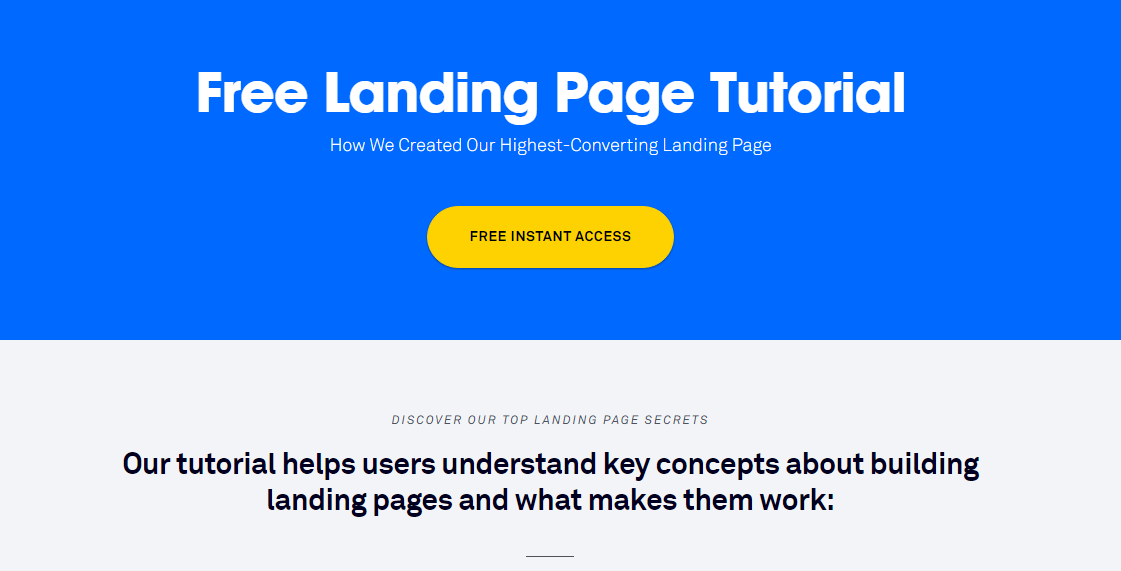 landing page copy example 1